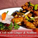 ginger, scallion crab