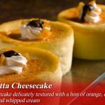 mini ricotta cheesecake